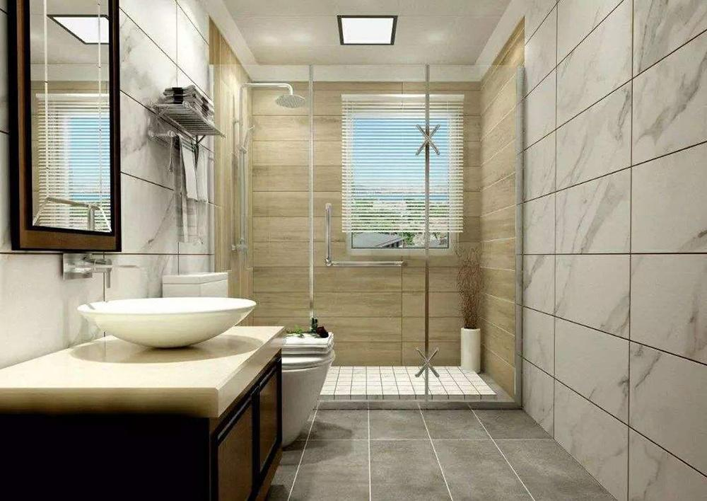 洗手间贴瓷砖