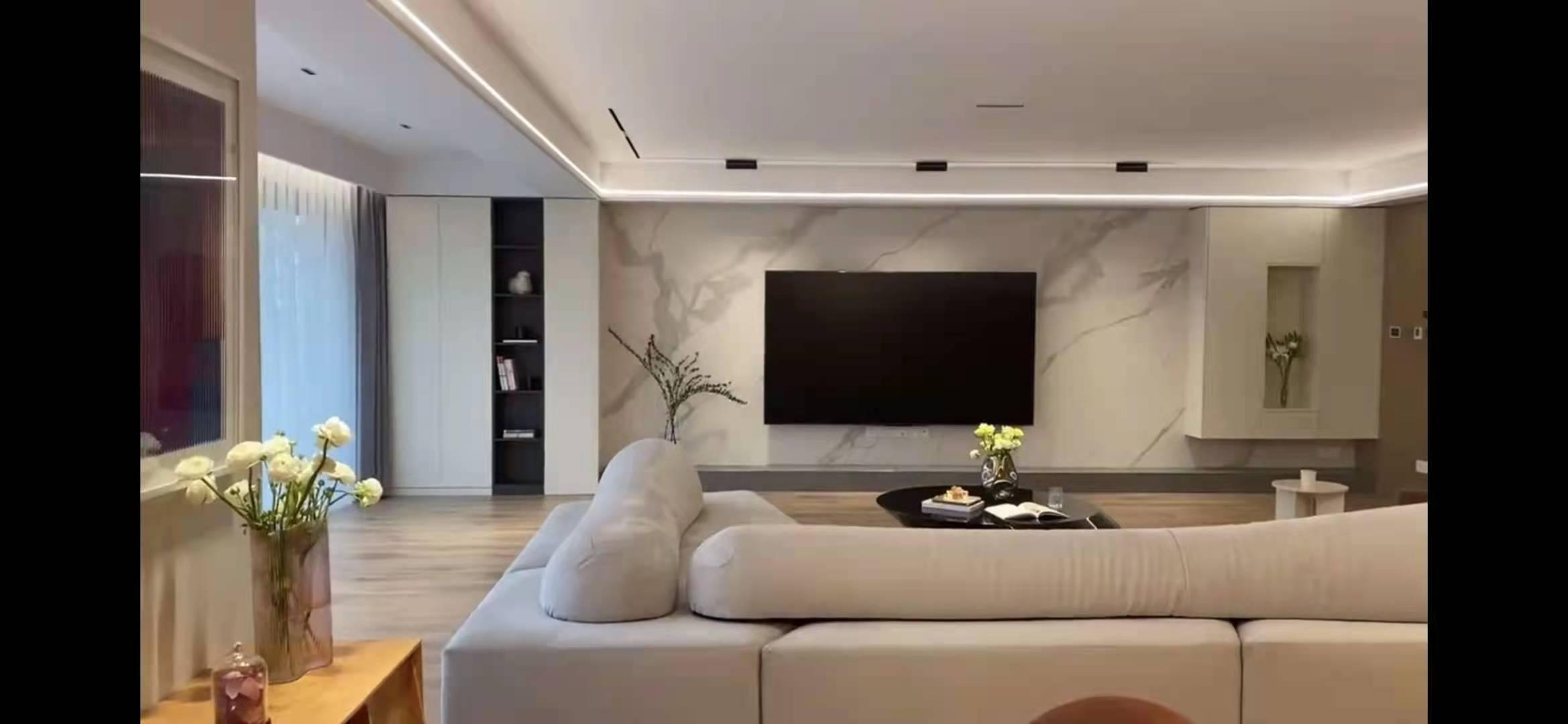 岩板电视背景墙