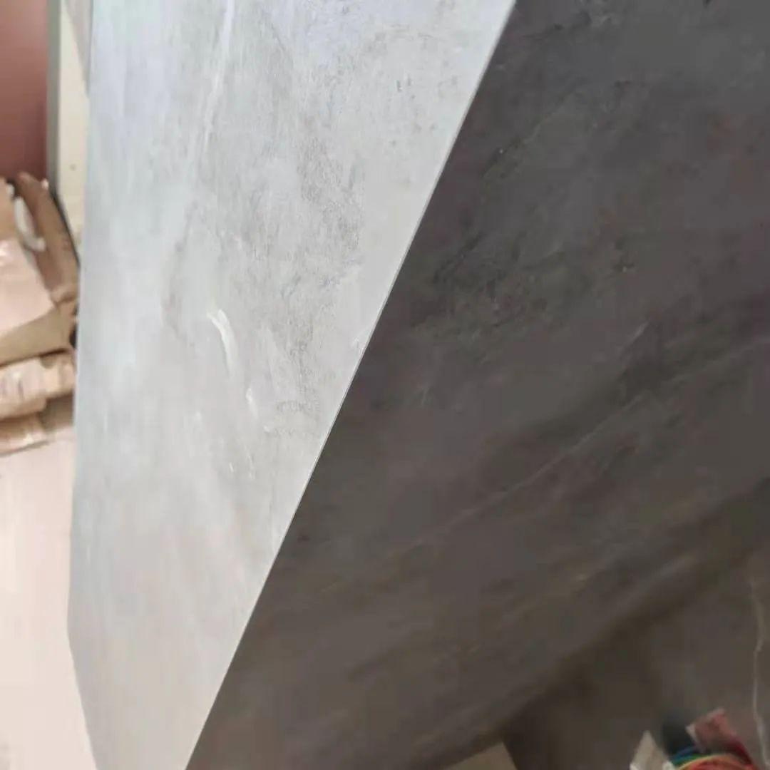 岩板阳角45度收口细节