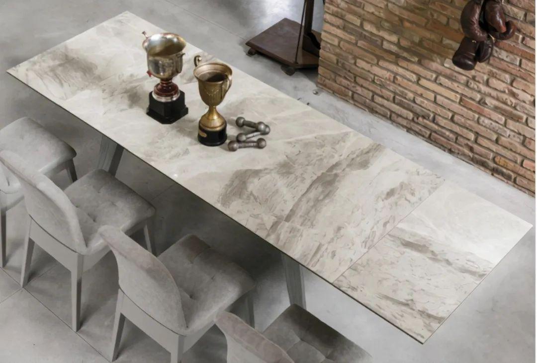 大岩板餐桌定制