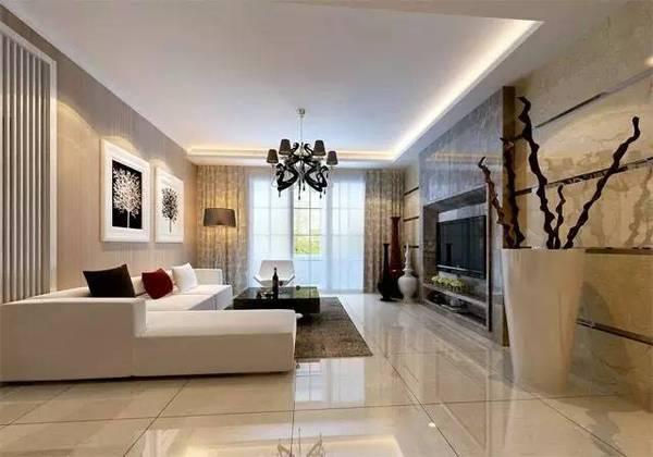 客厅墙面贴瓷砖
